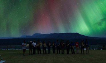 PKFN Drummers under the Northern Lights